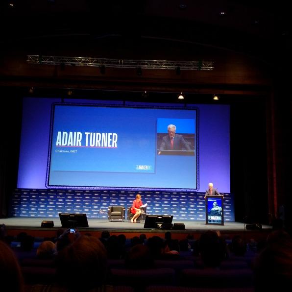 Lord Adair Turner - Chủ tịch INET phát biểu khai mạc Hội nghị