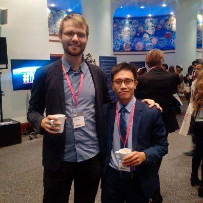 Ông Trần Mạnh Cường (bên phải) và ông Mads Falkenfleth Jensen, Founder của Rethinking Economics Đan Mạch